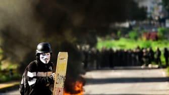 A protester in Caracas.