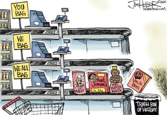 Editorial Cartoon U.S. racist products Aunt Jemima
