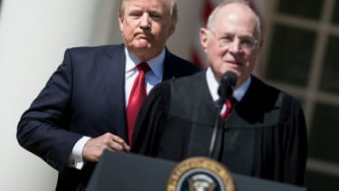 President Trump and Justice Anthony Kennedy