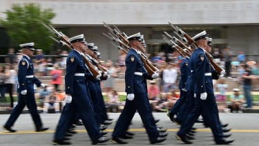 Military parades are coming back.