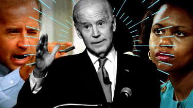 Joe Biden and Anita Hill.