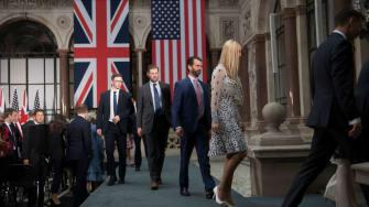 Trump's adult children at a joint U.S-U.K. press conference