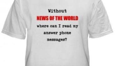 The News of the World scandal: T-shirt edition