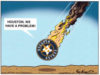 Editorial Cartoon U.S. Houston Astros cheating scandal