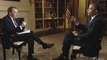 Charlie Rose and President Obama