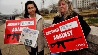 Anti-gun-violence protesters