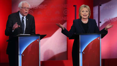 Hillary Clinton asks Bernie Sanders to say it to her face