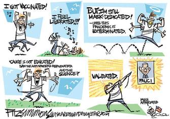 Editorial Cartoon U.S. vaccines covid fauci