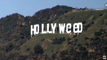 A joker changed the Hollywood sign to say HOLLYWeeD