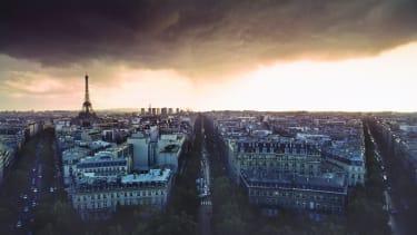 A storm gathers over Paris.