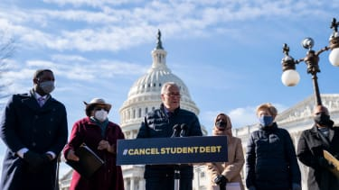 Lawmakers call on President Biden to cancel student debt.