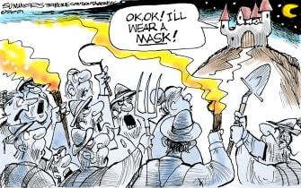 Editorial Cartoon U.S. masks covid