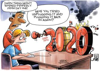 Editorial Cartoon U.S. 2020 coronavirus George Floyd