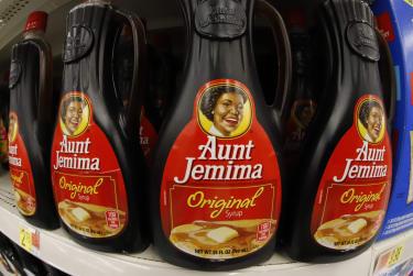 Aunt Jemima syrup bottles.