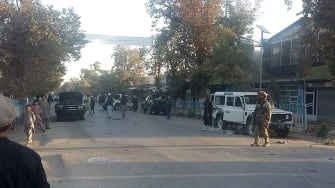 Afghan security forces patrol Kunduz, which they claim to have recaptured from the Taliban