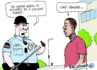 Editorial Cartoon U.S. police racism prejudice