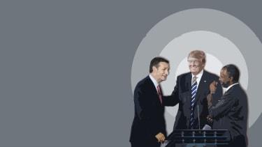 Ted Cruz, Donald Trump, and Ben Carson.