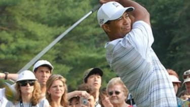 Tiger Woods on the course