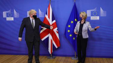 Boris Johnson and Ursula von der Leyen.