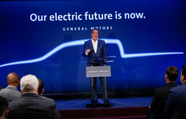 GM pledges electric future