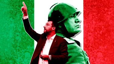 Matteo Salvini and Benito Mussolini.