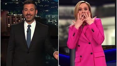 Jimmy Kimmel and Sam Bee mock Trump's financial acumen