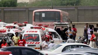 Taliban-linked gunmen killed 43 Shiite passengers on a bus in Karachi
