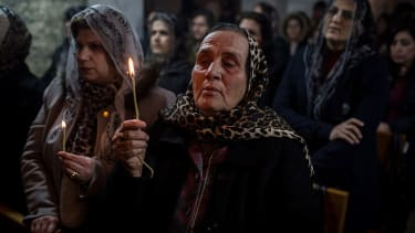 Iraqi Christians celebrate Christmas in Bartella, Iraq