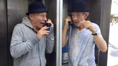 Patrick Stewart and Ian McKellen make New York fun again with joyous photos, then leave