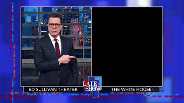 Stephen Colbert checks in on the Trump White House