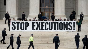 Anti-death penalty protesters.