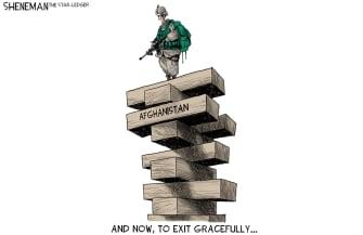 Editorial Cartoon U.S. afghanistan withdrawal