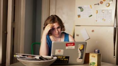 "A still of Lena Dunham in ""Girls"" Season 2"