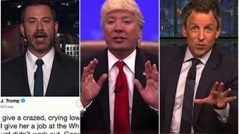 Jimmy Fallon, Jimmy Kimmel, Seth Meyers on Omarosa v Trump