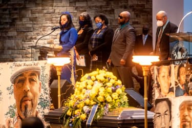 Andre Hill's daughter speaks at his funeral.