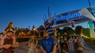People at Disneyland.