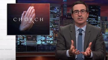 John Oliver preaches against televangelists