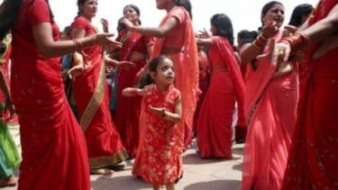 Nepali Hindu women