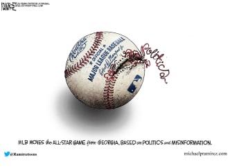 Political Cartoon U.S. mlb georgia voting law