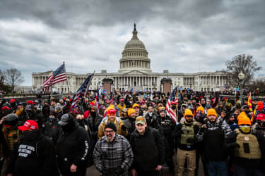 Rioters at the Capitol on Jan. 6.