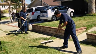 California firefighters help man who collapsed while mowing lawn — then finish his yard work