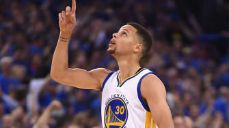 Steph Curry sinks his 400th 3-pointer of the season