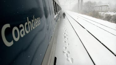 An Amtrak train was stuck in a snowbank for 13 hours.