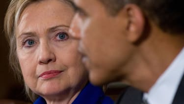 President Obama and Hillary Clinton.