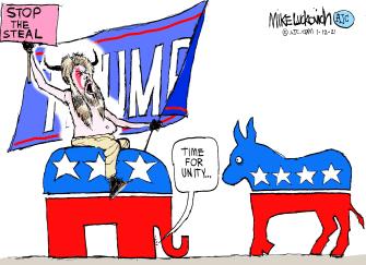 Political Cartoon U.S. GOP Capitol riot