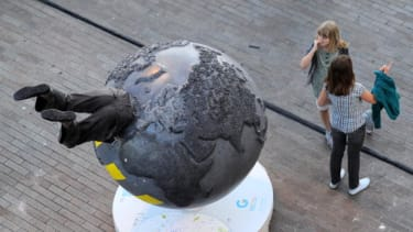 The 'Cool Globes' installation in Marseilles.