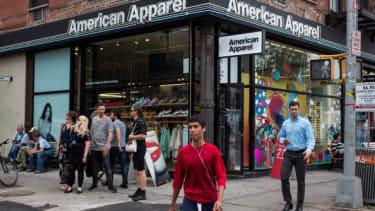 American Apparel store.