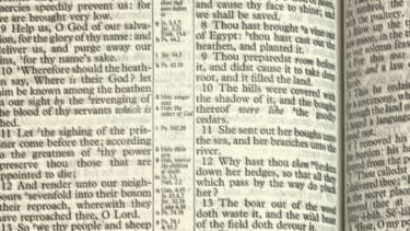 Bible pages.