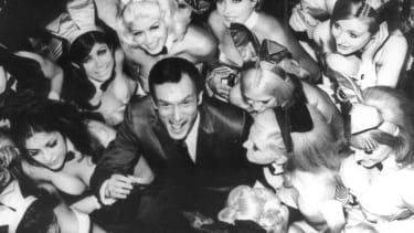 Hugh Hefner and friends.