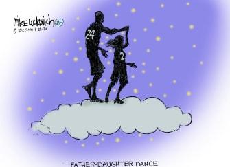 Editorial Cartoon Kobe Bryant RIP Gigi father daughter dance